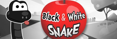 Image of Black and white snake game